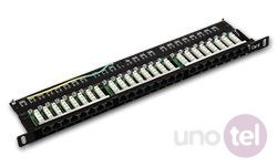 "Patch panel OPTIMUM UTP kat.5e 24 porty LSA 0.5U 19"" ALANTEC"