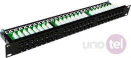 "Patch panel OPTIMUM UTP kat.6 48 portów LSA 1U 19"" ALANTEC"