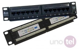 "Patch panel UTP 12 portów LSA 10"" 1U ALANTEC"