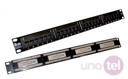 "Patch panel UTP kat.5e 24 porty złącza LSA 1U 19"" ALANTEC"