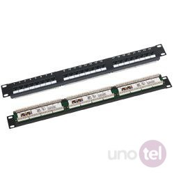 "Patch panel UTP kat.6 24 porty złącza LSA 1U 19"" Q-LANTEC"