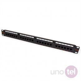 "Patch Panel 19"" UTP Kat.5e 24xRJ45 czarny Roline"