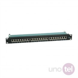 Patch Panel Kat.6 24 porty STP czarny VALUE