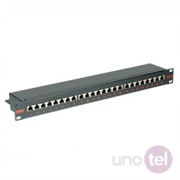 Patch Panel STP Kat.6 24xRJ45 czarny ROLINE